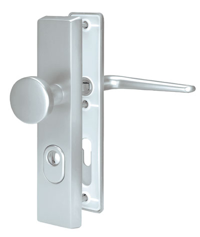 Art. No. 3050, Security fitting ES 0, long plate, visible screwed connection on both sides